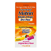 Motrin Infant's Dye-Free Concentrated Drops