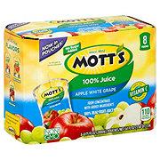 Mott's 100% Apple White Grape Juice Pouches