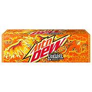 Mountain Dew Live Wire Orange Soda 12 oz Cans