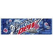 Mountain Dew Voltage Raspberry Citrus Flavor & Ginseng Soda 12 oz Cans