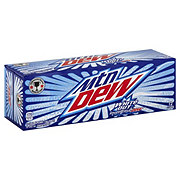 Mountain Dew White Out Smooth Citrus Dew Soda 12 oz Cans