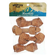 Mountain Peak Rawhide 4 Inch Knot Bone Beef