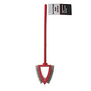 Mr. Bar-B-Q Oversized Dual Bristle Grill Brush, Red