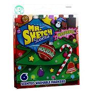 Mr. Sketch Holiday Scented Chisel Washable Markers
