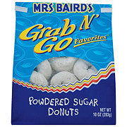 Mrs Baird's Grab N' Go Favorites Powdered Sugar Donuts