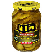 Mt. Olive Mini Stuffers Hamburger Dill Chips