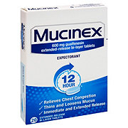 Mucinex 12 Hour Guaifenesin 600 mg Tablets