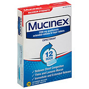 Mucinex 12 Hour Maximum Strength Bi-Layer Tablets