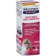 Mucinex Children's Stuffy Nose And Cold Mixed Berry Flavor Liquid