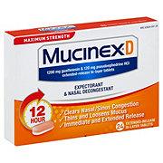 Mucinex D Expectorant & Nasal Decongestant, 24 CT