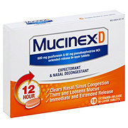 Mucinex D Expectorant and Nasal Decongestant, 18 CT