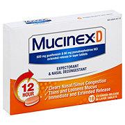 Mucinex D Expectorant and Nasal Decongestant, 18 CT