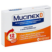 Mucinex D Expectorant and Nasal Decongestant, 36 CT