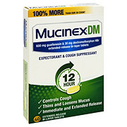 Mucinex DM 12 Hour Expectorant & Cough Suppressant Extended Release Bi-Layer Tablets