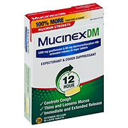 Mucinex DM 12 Hour Expectorant & Cough Suppressant Maximum Strength Extended-Release Bi-Layer Tablets