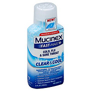 Mucinex Fast-Max Clear & Cool Severe Cold, Flu & Sore Throat