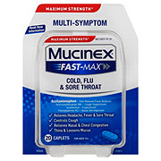 Mucinex Fast-Max Cold Flu & Sore Throat Multi-Symptom Maximum Strength Caplets