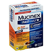 Mucinex Fast-max Day Cold & Night Cold & Flu, Liquid Gels