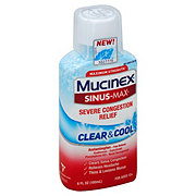 Mucinex Sinus-Max Clear & Cool Cold Severe Congestion Relief