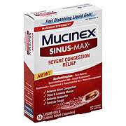 Mucinex Sinus-max Pressure Pain & Cough Liquid Gels