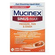 Mucinex Sinus-max Pressure Pain & Cough Liquid Gels