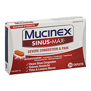 Mucinex Sinus-Max Severe Congestion Relief Maximum Strength Caplets