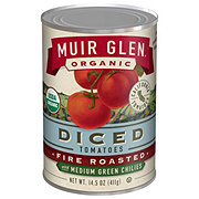 Muir Glen Organic Fire Roasted Diced Tomatoes with Medium Green Chilies