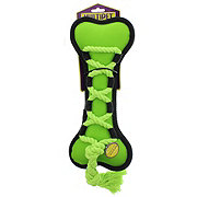 Multipet Cross-Ropes Dog Toy Green Bone