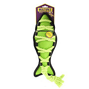 Multipet Cross-Ropes Dog Toy Green Fish