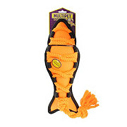 Multipet Cross-Ropes Dog Toy Orange Fish