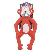 Multipet Lenny the Monkey Latex Dog Toy, Assorted Colors