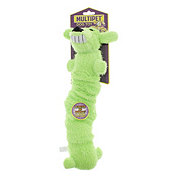 Multipet Loofa Dog Bungee and Scrunchy Small 12 Inch Plush Dog Toy, Assorted Colors