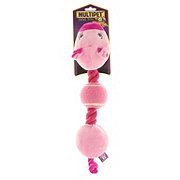 Multipet Rope Head Farm Animals Pig Toy