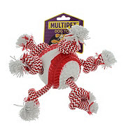 Multipet TPR Ball with Rope Baseball