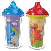Munchkin Sesame Street Click Lock 9 OZ Insulated Sippy Cups, Assorted Colors