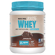 Muscle Milk 100% Whey Protein Blend With Probiotics Chocolate