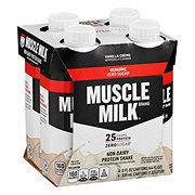Muscle Milk Vanilla Crème Genuine Non-Dairy Protein Shake 4 pk