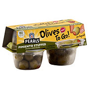 Musco Family Olive Co. Pearls Pimiento Stuffed Green Manzanilla Olives To Go! Cups