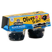 Musco Family Olive Co. Pearls Ripe Black Large Pitted California Olives To Go Cups!
