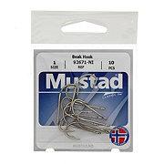 Mustad 92671-NI Beak Hook, Size 1
