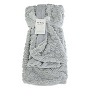 My Baby Boutique Baby Plush Blanket-Grey 30x40 in