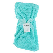 My Baby Boutique Blue Plush Baby Blanket