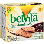Nabisco Belvita Dark Chocolate Creme Breakfast Sandwich Cookies