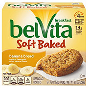 Nabisco Belvita Soft Baked Banana Bread Breakfast Biscuits