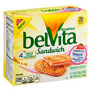 Nabisco Belvita Strawberry Yogurt Creme Breakfast Sandwich Biscuits