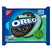 Nabisco Oreo Chocolate Sandwich Cool Mint Creme Cookies
