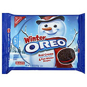 Nabisco Oreo Chocolate Sandwich Red Creme Cookies Winter Edition