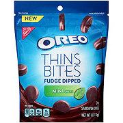 Nabisco Oreo Thins Bites Fudge Dipped Mint Creme Sandwich Cookies