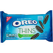Nabisco Oreo Thins Mint Creme Chocolate Sandwich Cookies