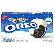 Nabisco Oreo White Fudge Covered Chocolate Sandwich Cookies